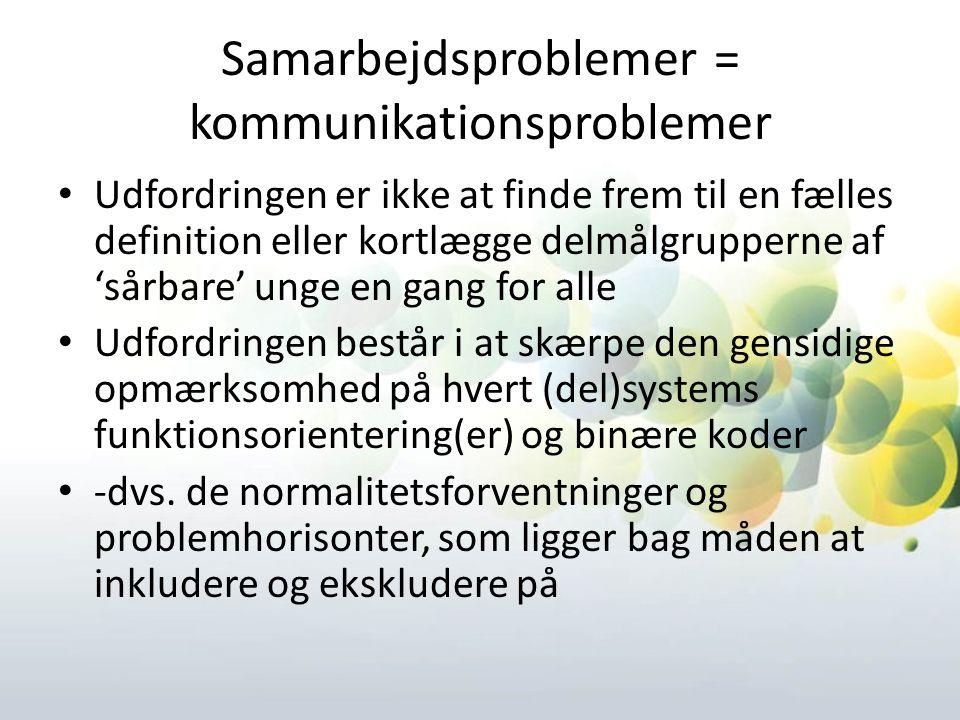 Samarbejdsproblemer = kommunikationsproblemer