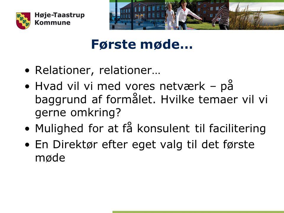 Første møde… Relationer, relationer…