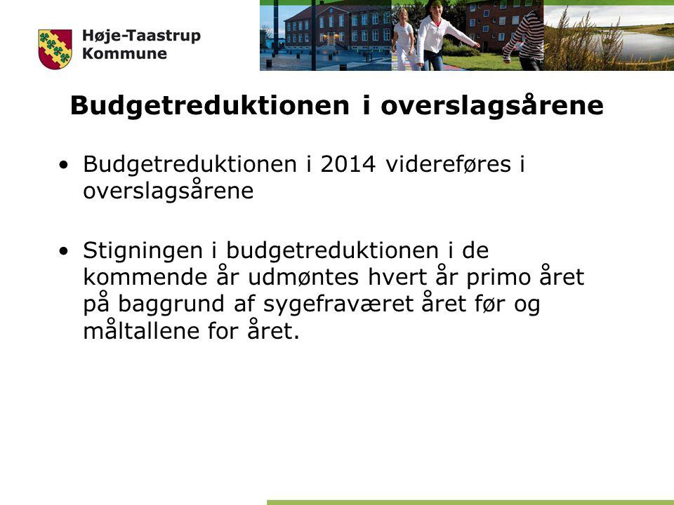 Budgetreduktionen i overslagsårene