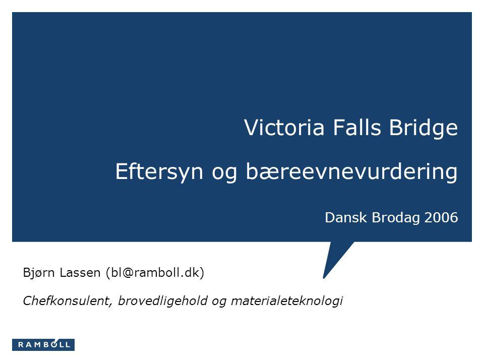 Victoria Falls Bridge Eftersyn og bæreevnevurdering Dansk Brodag 2006
