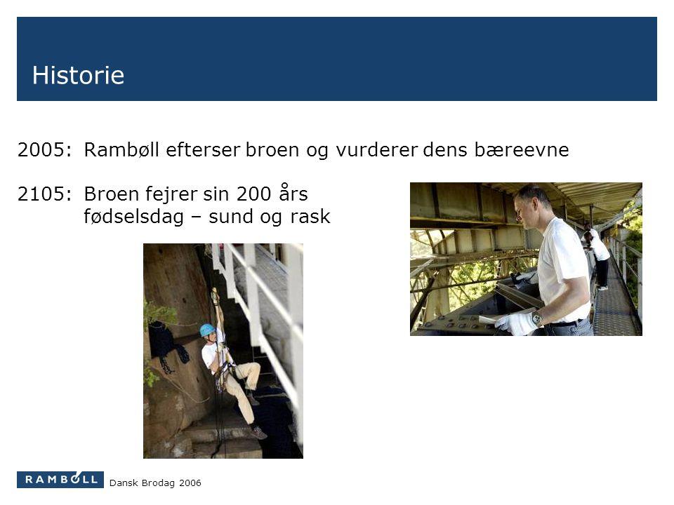 Historie 2005: Rambøll efterser broen og vurderer dens bæreevne
