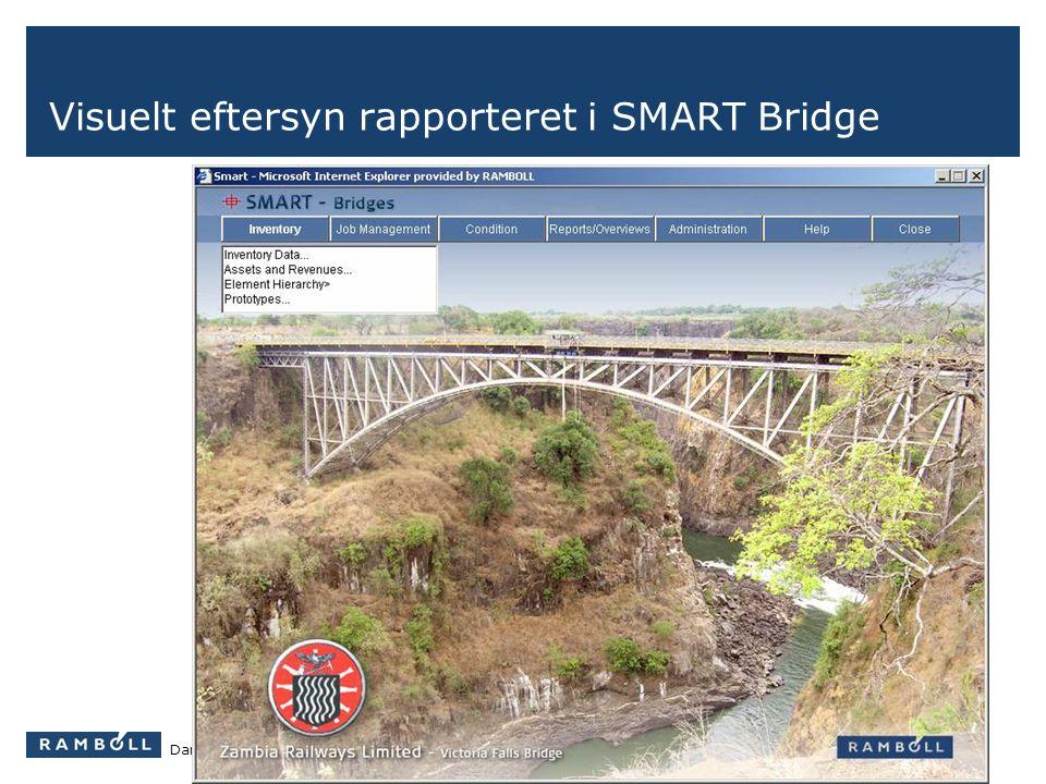 Visuelt eftersyn rapporteret i SMART Bridge