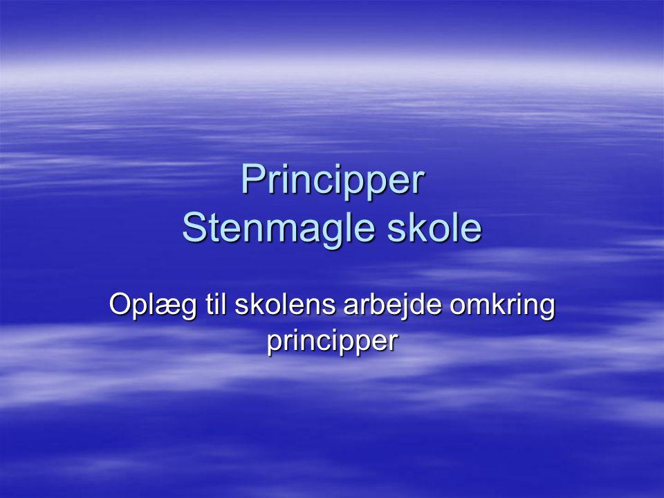 Principper Stenmagle skole