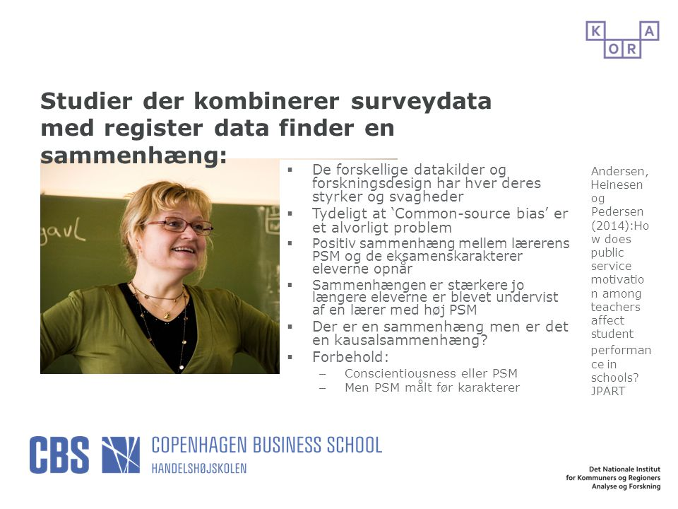 Studier der kombinerer surveydata med register data finder en sammenhæng: