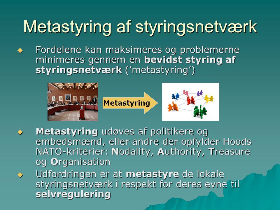 Metastyring af styringsnetværk
