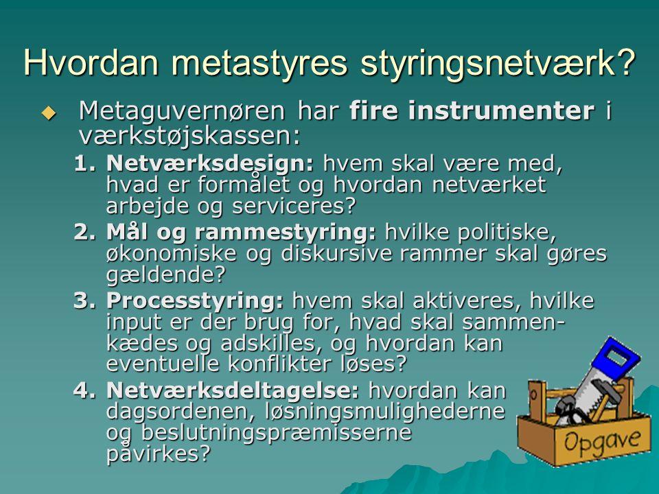 Hvordan metastyres styringsnetværk