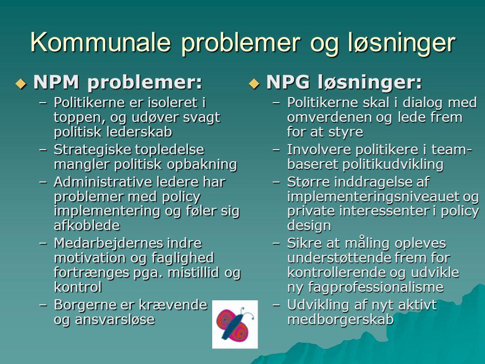 Kommunale problemer og løsninger