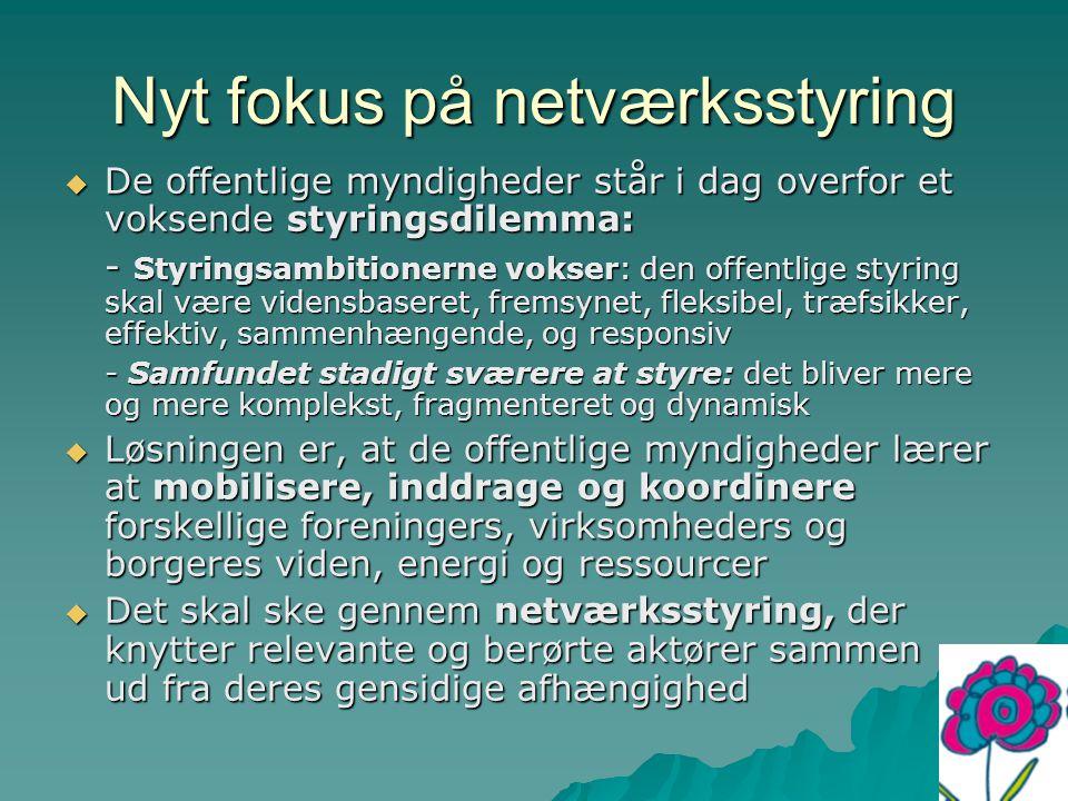Nyt fokus på netværksstyring