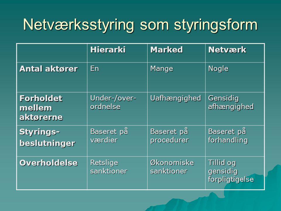 Netværksstyring som styringsform