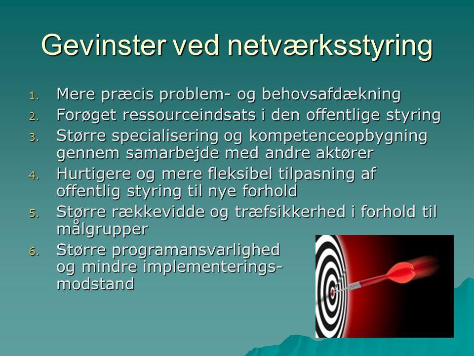 Gevinster ved netværksstyring