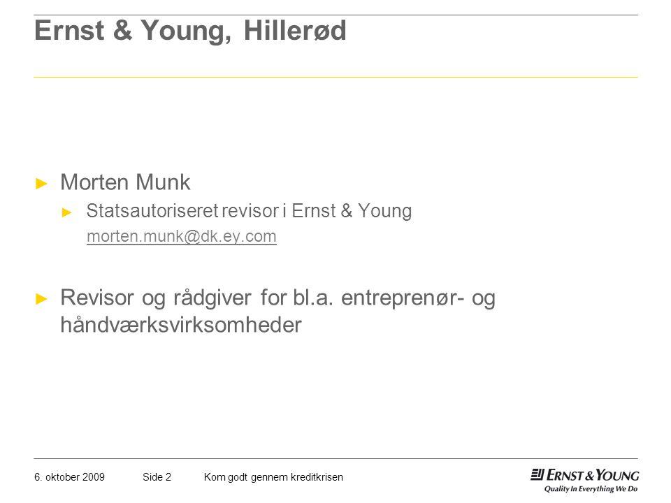 Ernst & Young, Hillerød Morten Munk