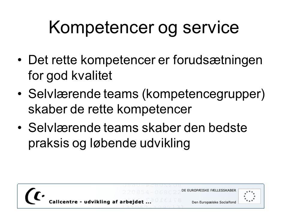 Kompetencer og service