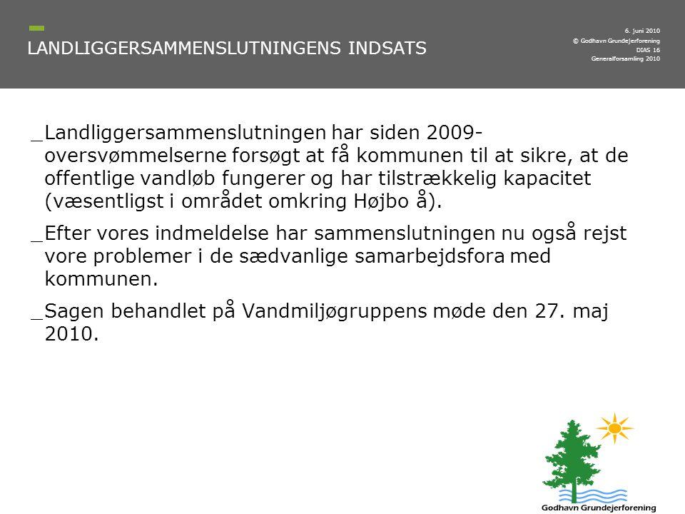LANDLIGGERSAMMENSLUTNINGENS INDSATS