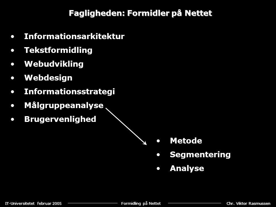Fagligheden: Formidler på Nettet