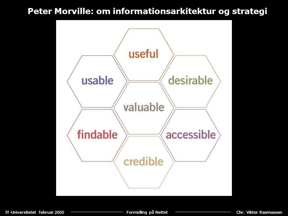 Peter Morville: om informationsarkitektur og strategi