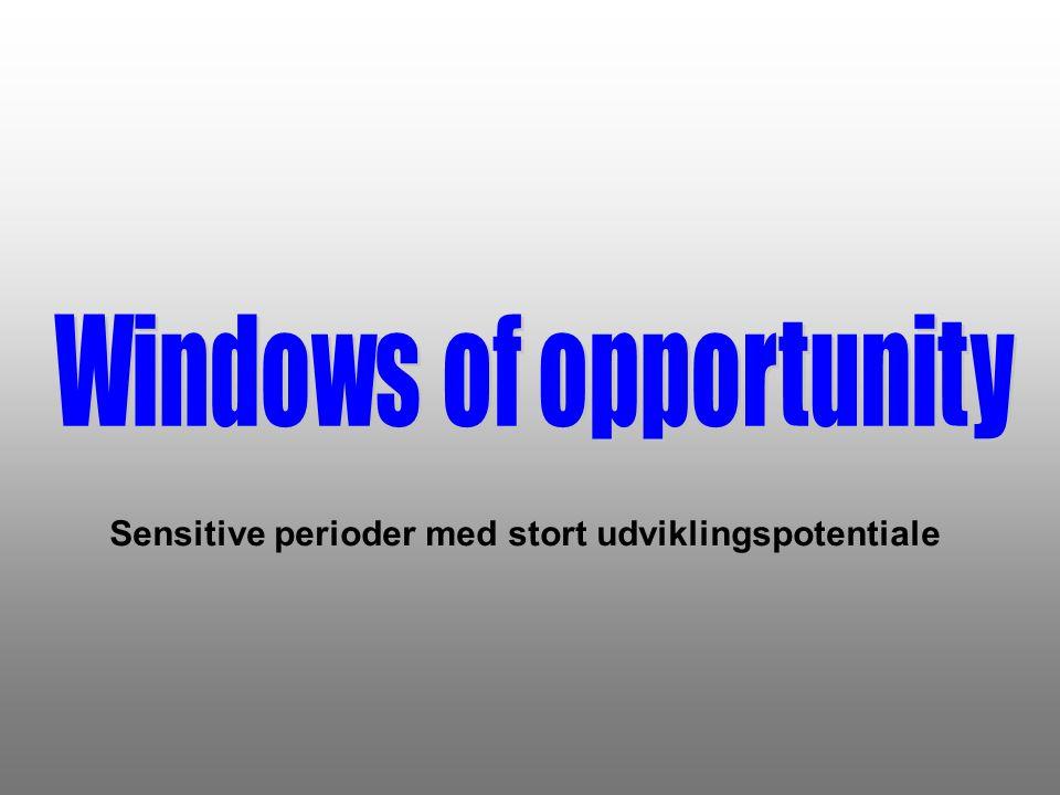 Sensitive perioder med stort udviklingspotentiale