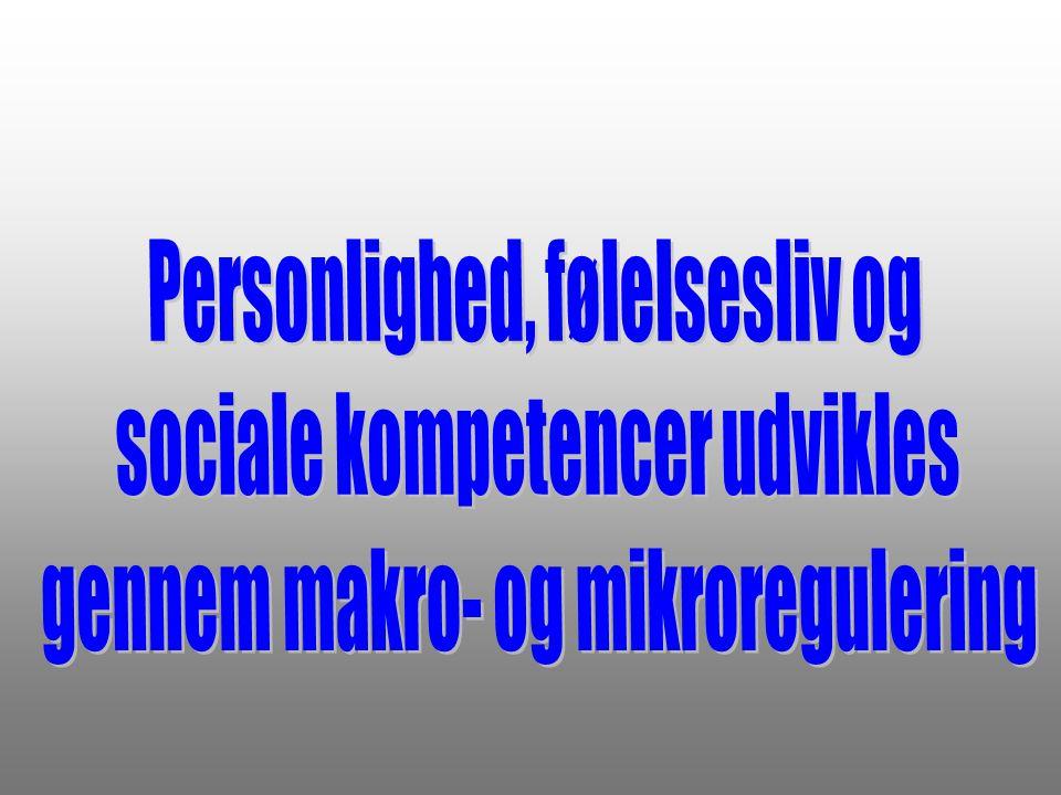 Personlighed, følelsesliv og sociale kompetencer udvikles