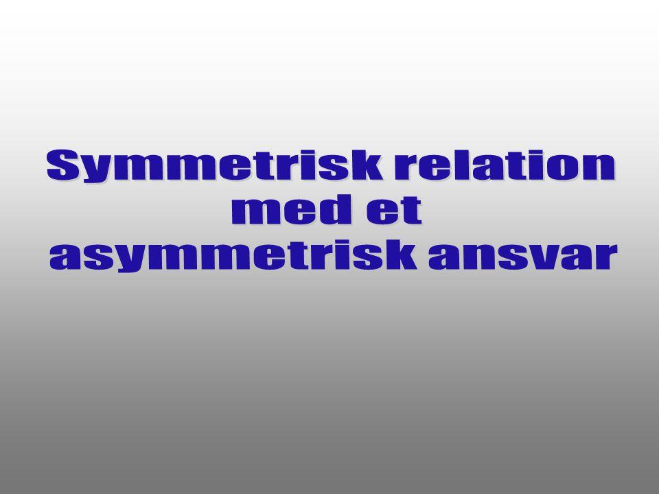 Symmetrisk relation med et asymmetrisk ansvar
