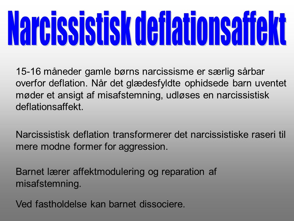 Narcissistisk deflationsaffekt