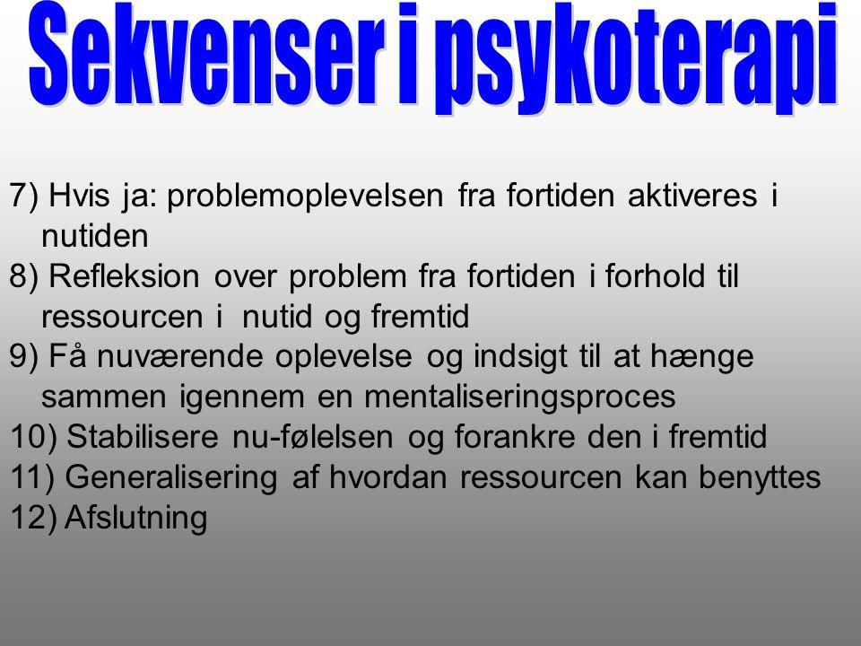 Sekvenser i psykoterapi
