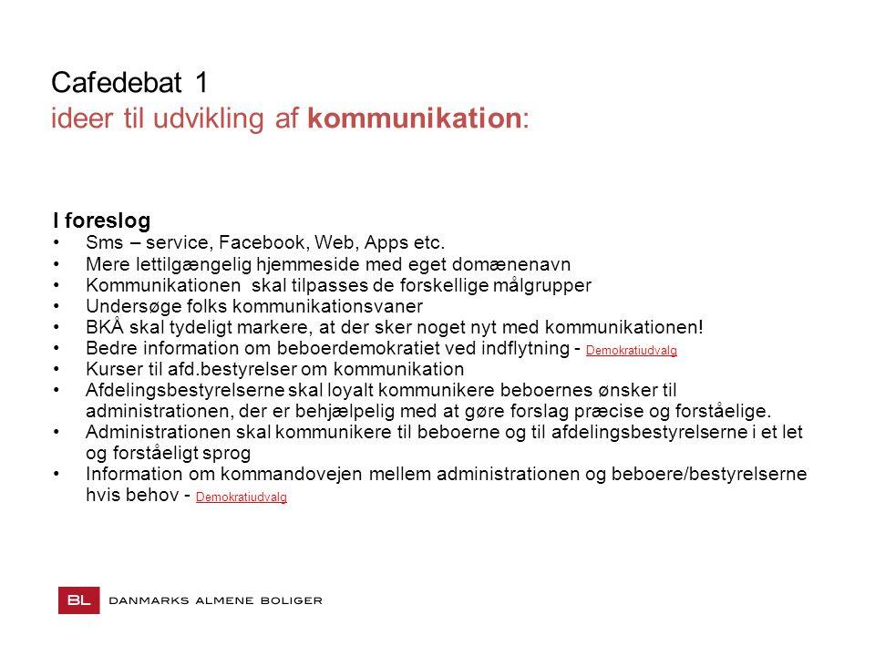 ideer til udvikling af kommunikation: