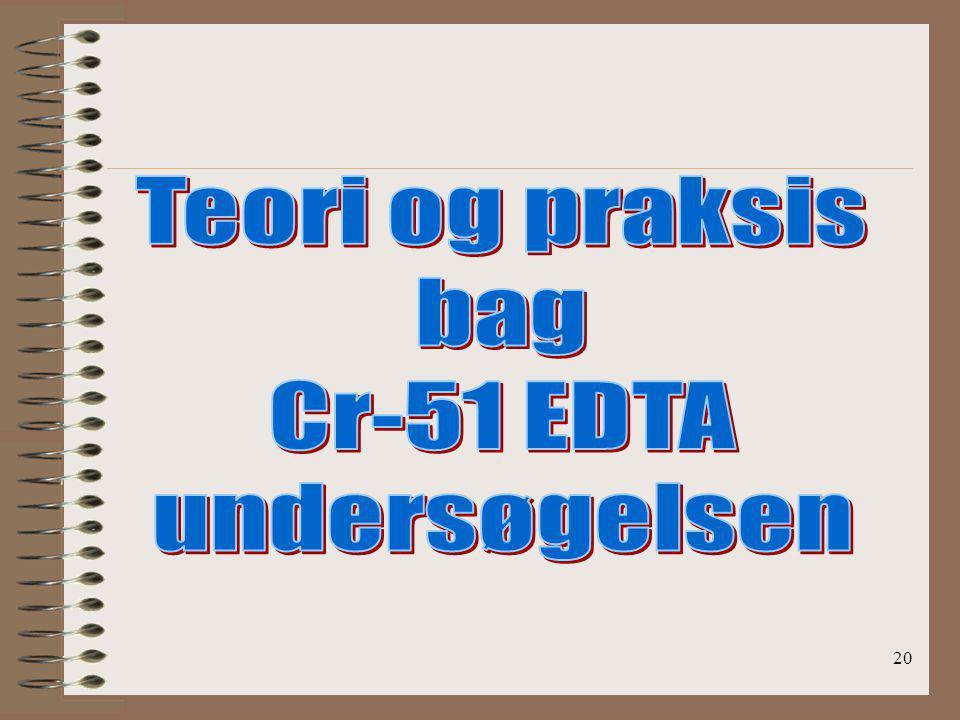 Teori og praksis bag Cr-51 EDTA undersøgelsen