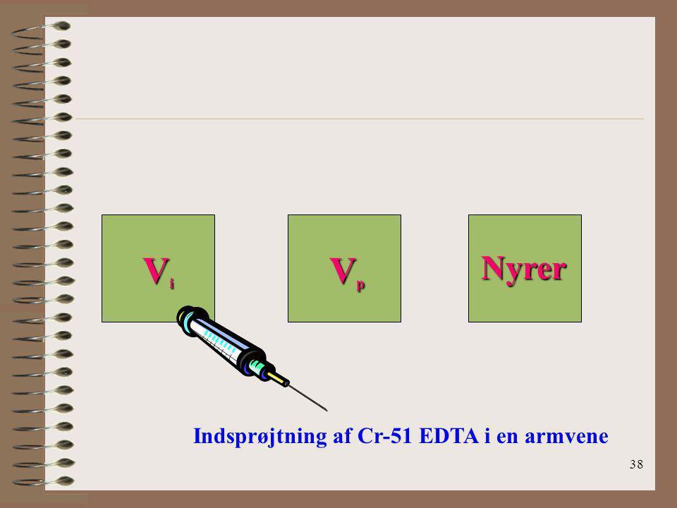 Vi Vp Nyrer Indsprøjtning af Cr-51 EDTA i en armvene