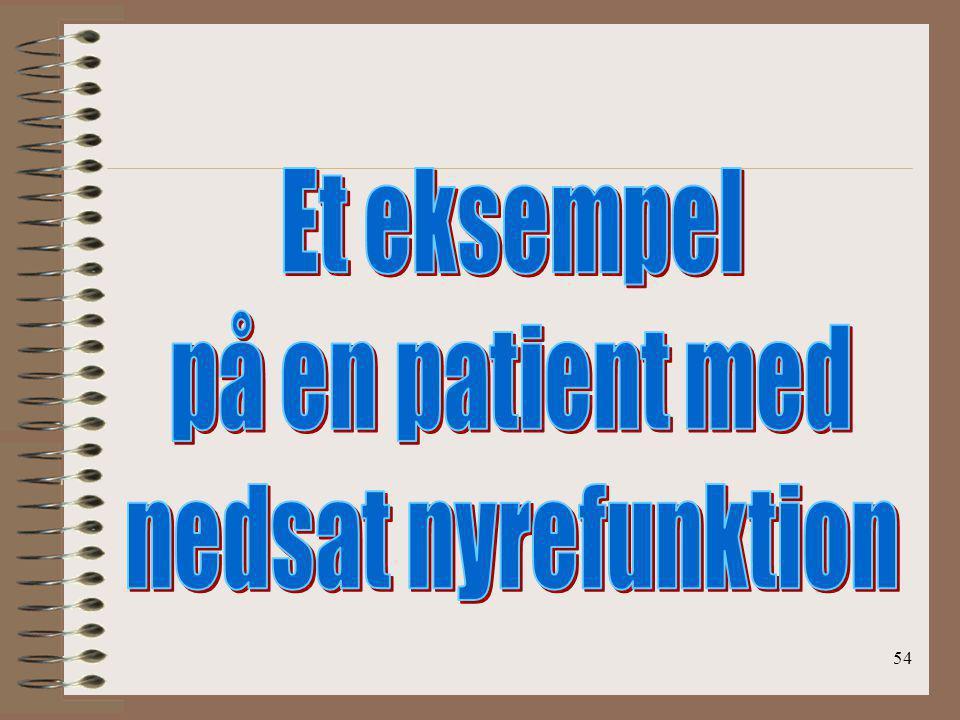 Et eksempel på en patient med nedsat nyrefunktion