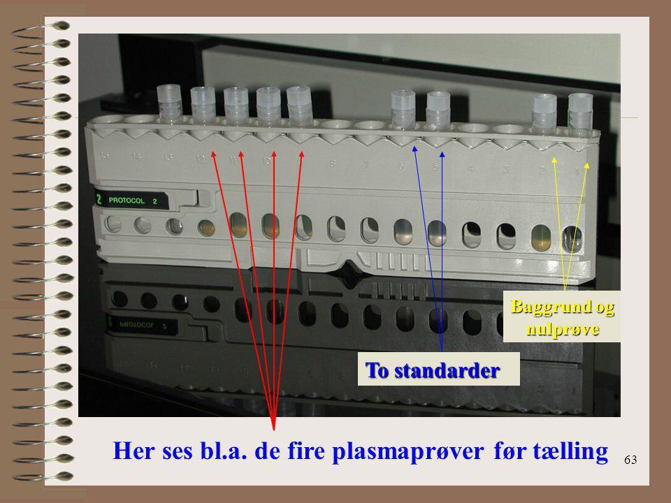 Her ses bl.a. de fire plasmaprøver før tælling