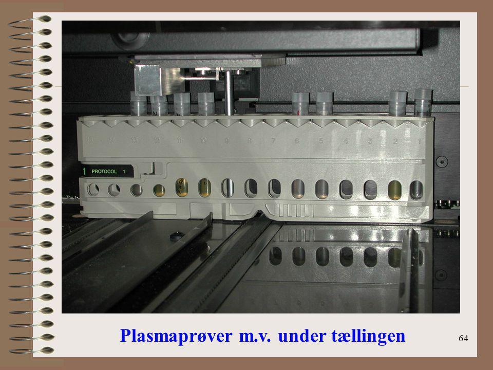 Plasmaprøver m.v. under tællingen