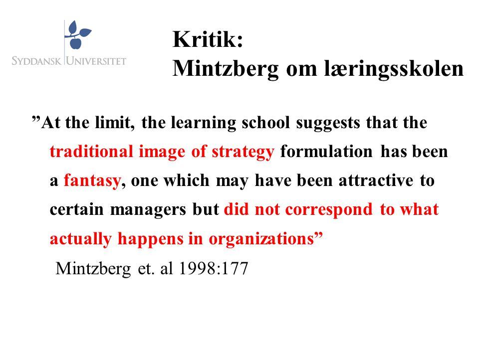Kritik: Mintzberg om læringsskolen