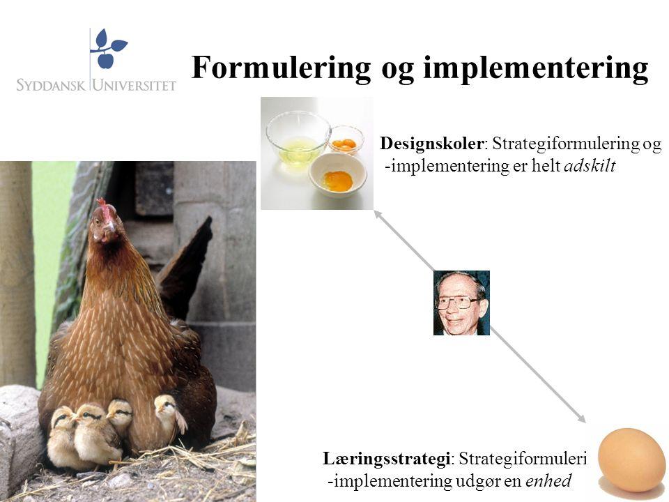 Formulering og implementering