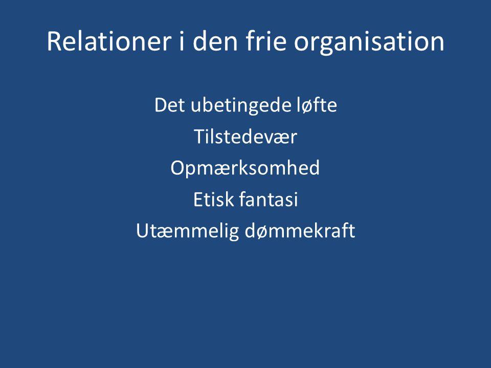 Relationer i den frie organisation