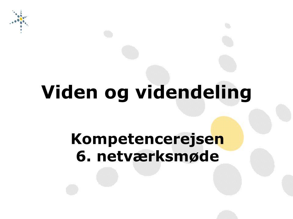 Kompetencerejsen 6. netværksmøde