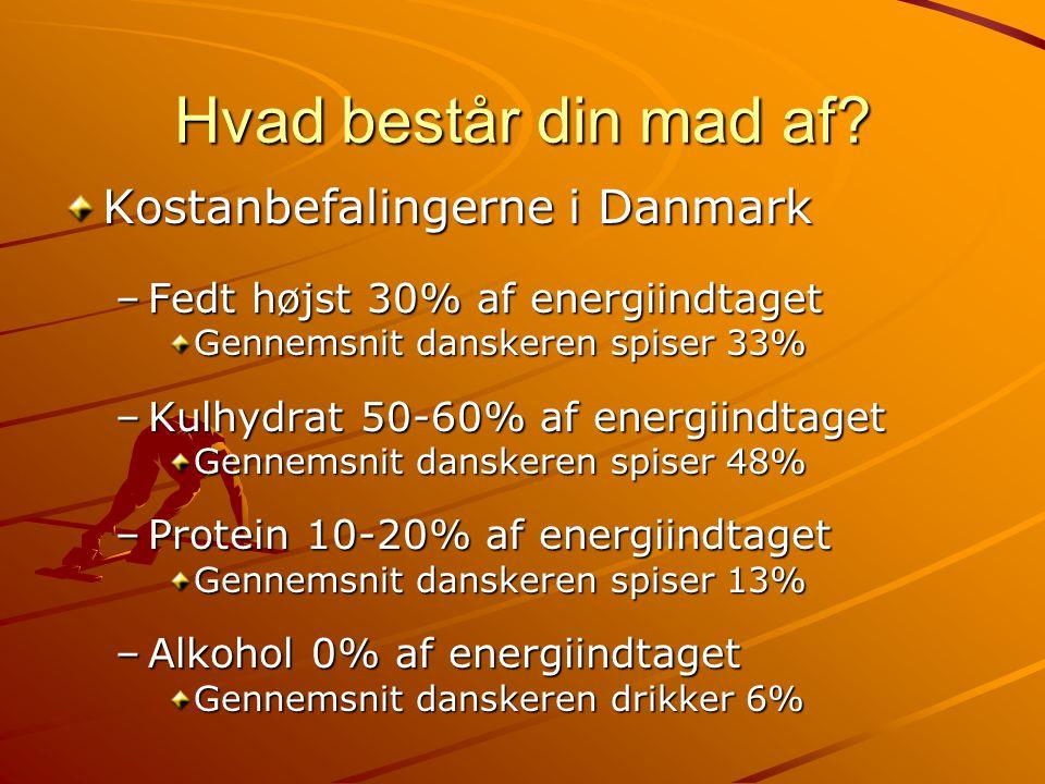 Hvad består din mad af Kostanbefalingerne i Danmark