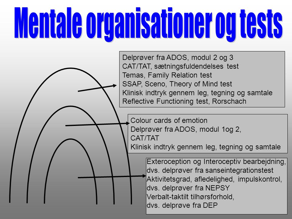 Mentale organisationer og tests