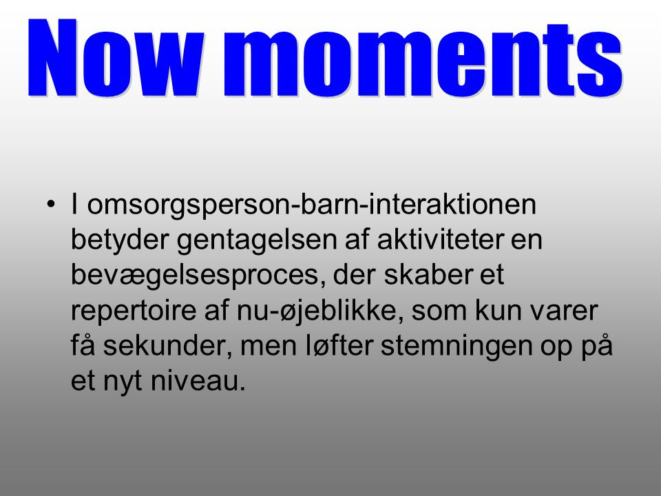 Now moments
