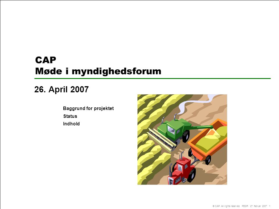 CAP Møde i myndighedsforum