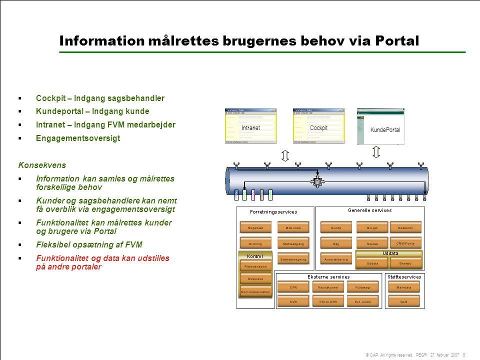 Information målrettes brugernes behov via Portal