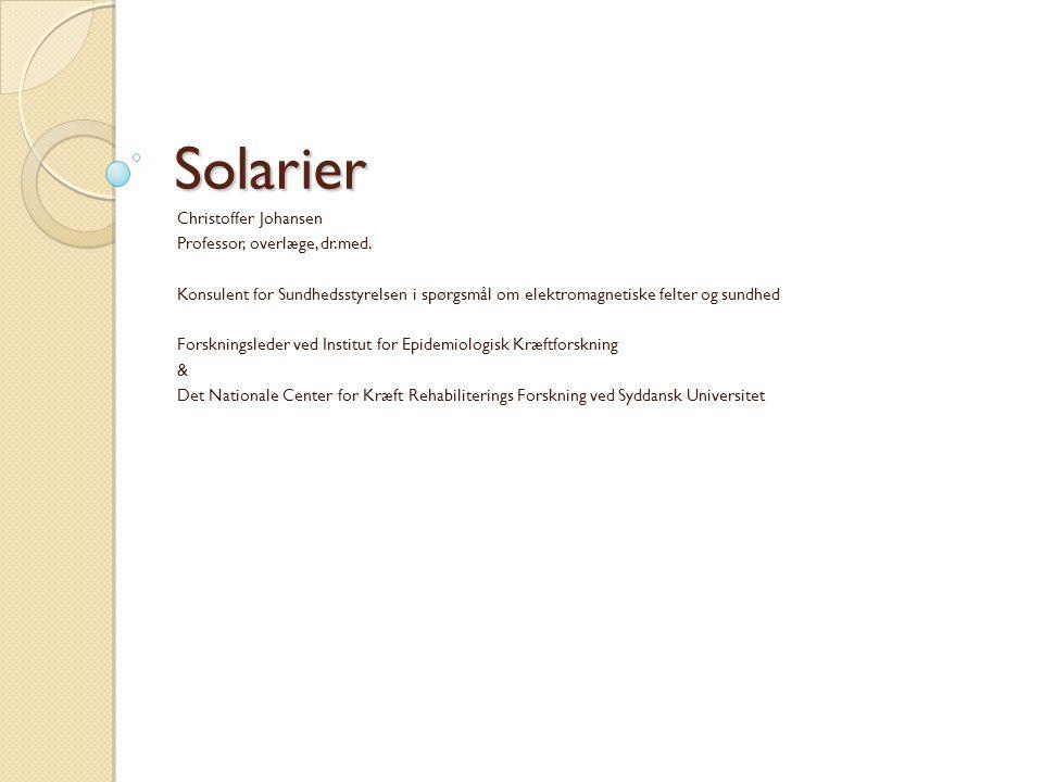Solarier Christoffer Johansen Professor, overlæge, dr.med.