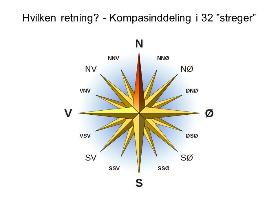 Hvilken retning - Kompasinddeling i 32 streger