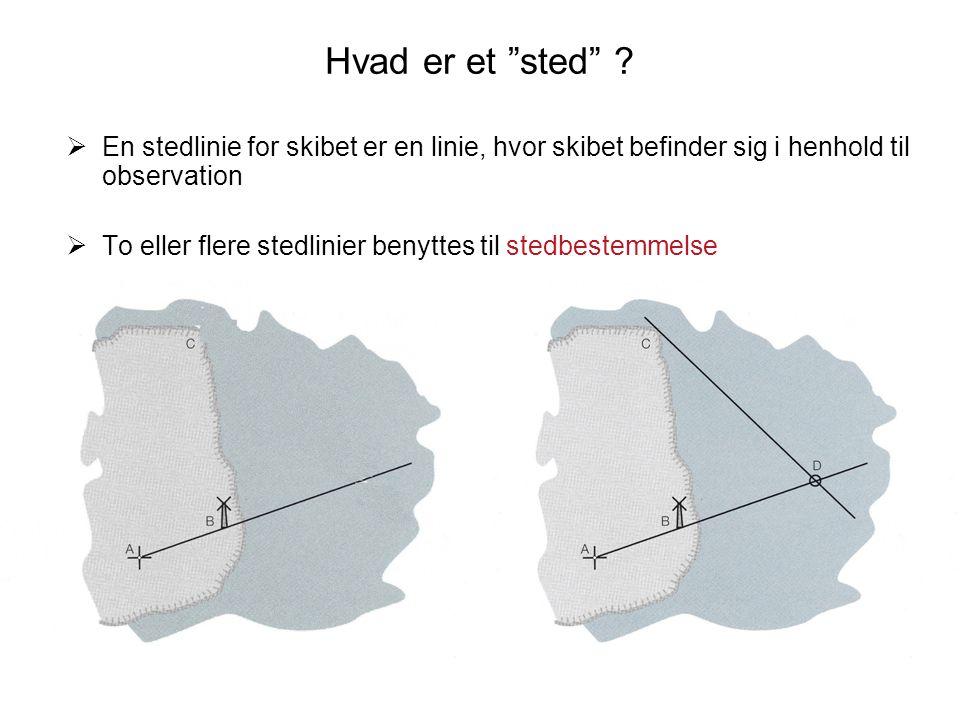 Hvad er et sted En stedlinie for skibet er en linie, hvor skibet befinder sig i henhold til observation.