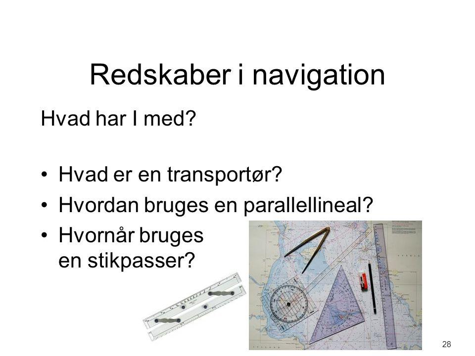 Redskaber i navigation