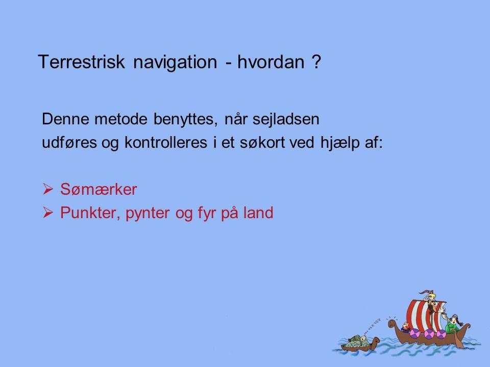 Terrestrisk navigation - hvordan