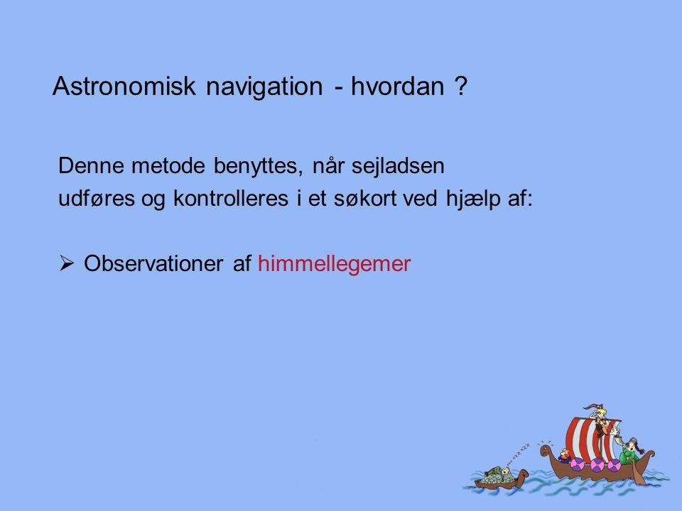 Astronomisk navigation - hvordan