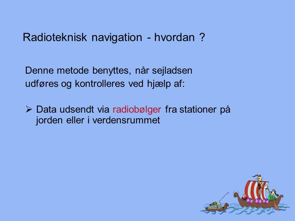 Radioteknisk navigation - hvordan