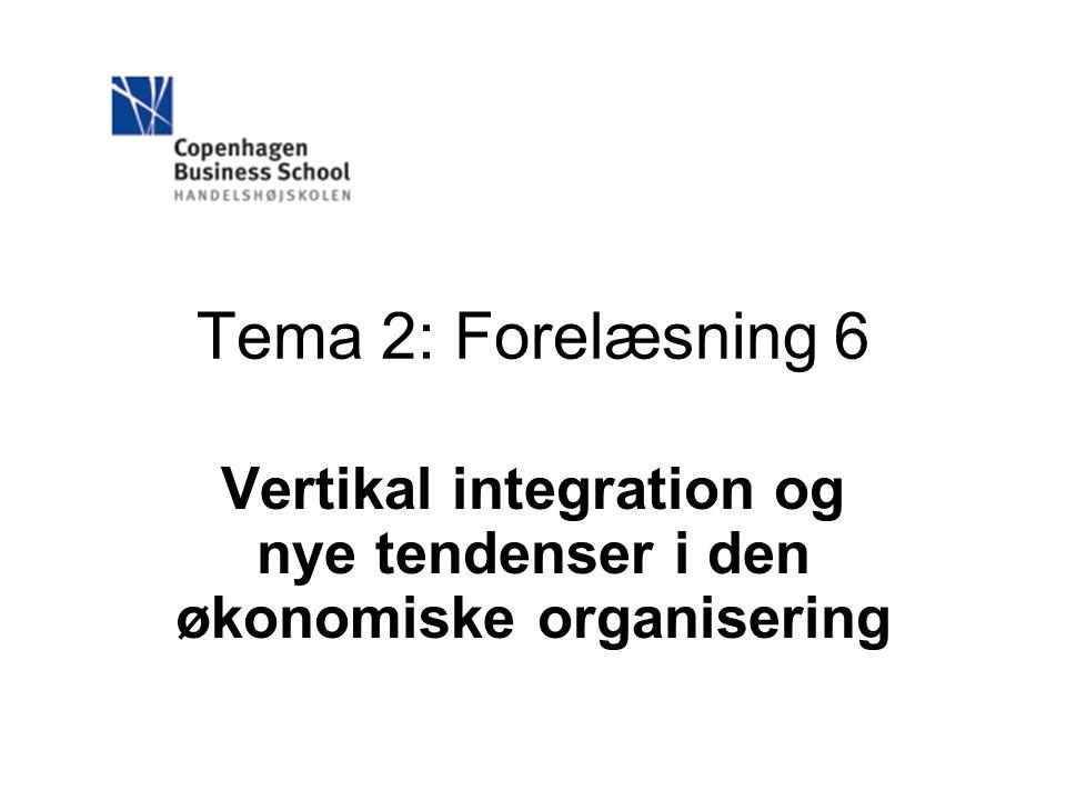 Vertikal integration og nye tendenser i den økonomiske organisering