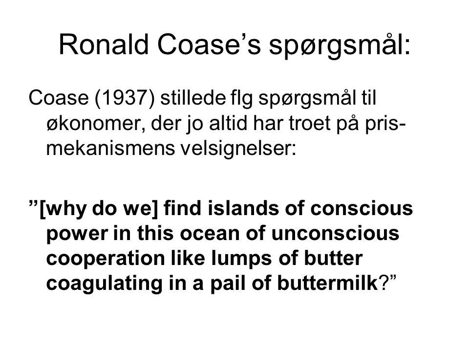 Ronald Coase's spørgsmål: