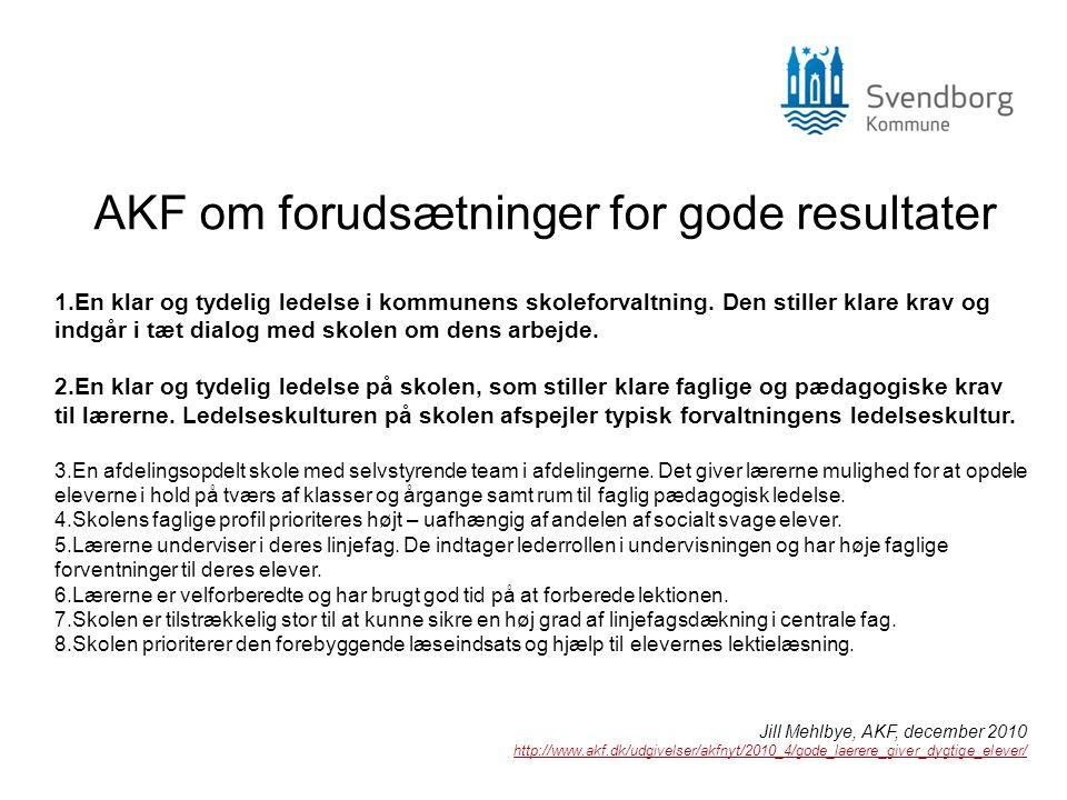 AKF om forudsætninger for gode resultater