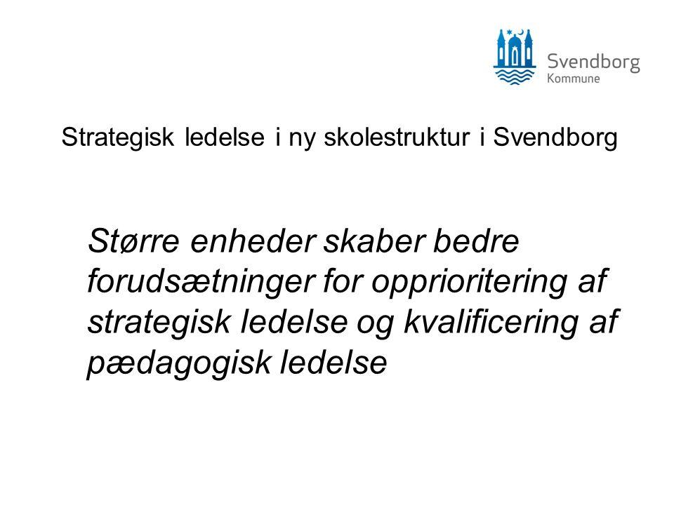 Strategisk ledelse i ny skolestruktur i Svendborg